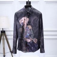 ベーシックで上質 ドルチェ&ガッバーナメンズワイシャツ長袖 Dolce&Gabbanaスーパーコピーシャツコピー細身