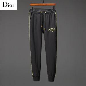 大人気のChristian Diorディオール コピー外付けドローコード付きメンズブラックスウェットパンツ