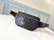 Louis Vuitton ウエストバッグ スタイリッシュに映えるアイテム メンズ ルイ ヴィトン 新作 コピー ブラック ダミエ おすすめ 激安