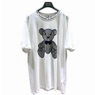 BURBERRY 個性的なテディベア反射Tシャツ バーバリー OSルーズバージョン 男女適 ダブルヤーン生地